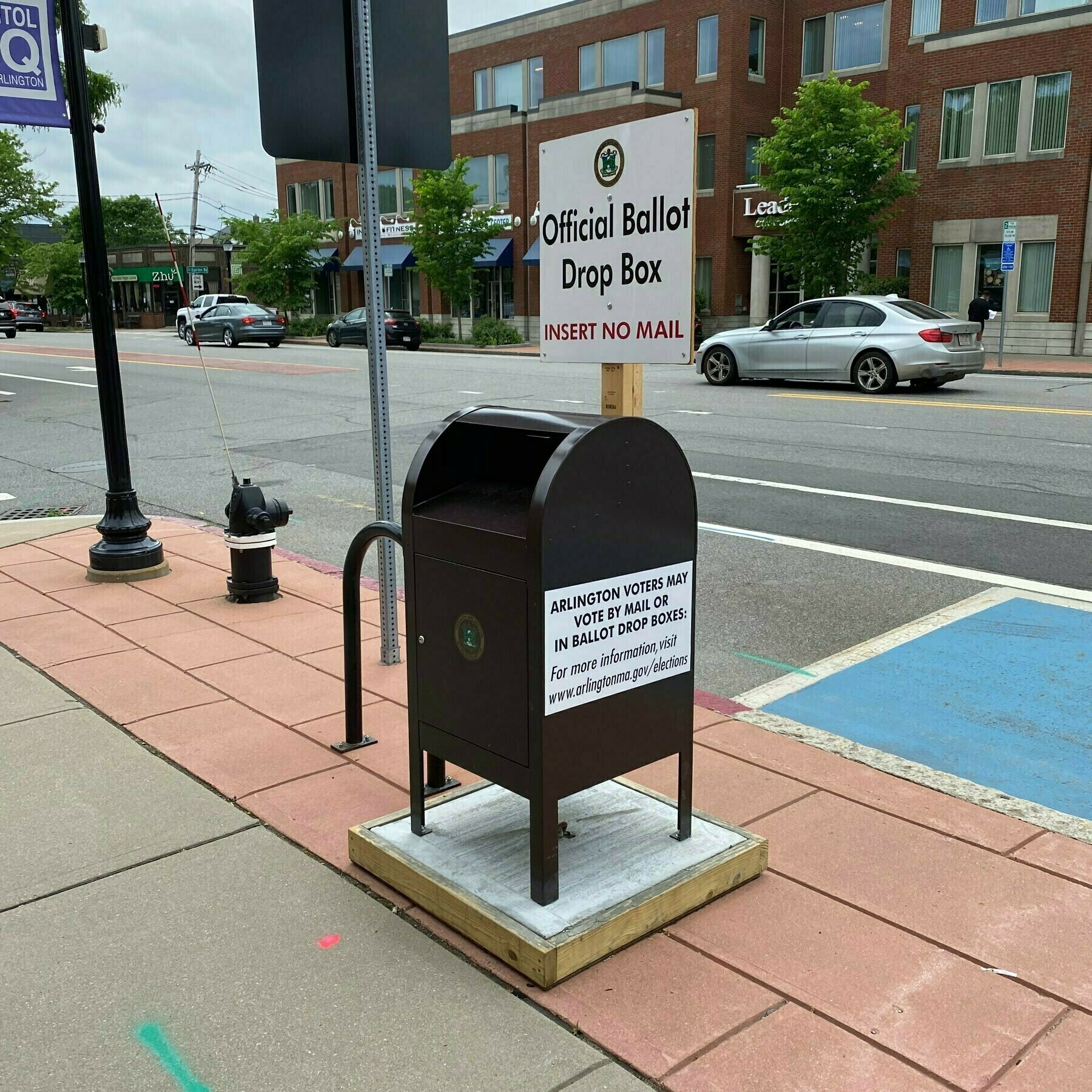 public drop box for official coting ballots